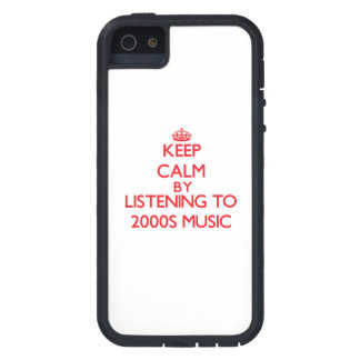 Keep calm by listening to 2000S MUSIC iPhone 5 Cover