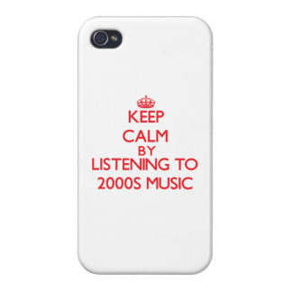 Keep calm by listening to 2000S MUSIC iPhone 4 Case