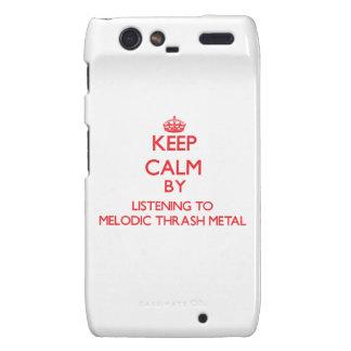Keep calm by listening to MELODIC THRASH METAL Motorola Droid RAZR Case