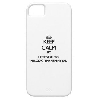 Keep calm by listening to MELODIC THRASH METAL iPhone 5 Covers