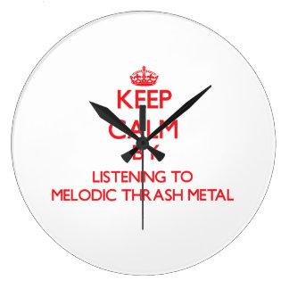Keep calm by listening to MELODIC THRASH METAL Wall Clocks