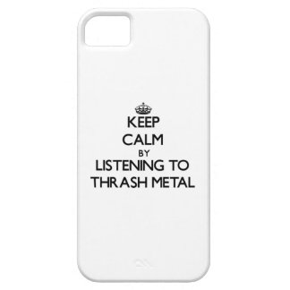 Keep calm by listening to THRASH METAL iPhone 5 Case