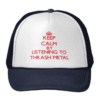 Keep calm by listening to THRASH METAL Mesh Hat