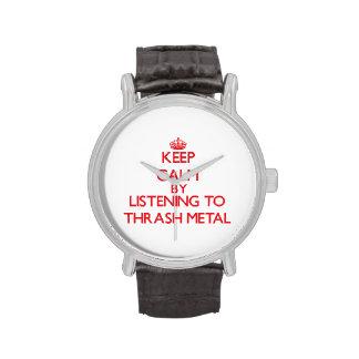 Keep calm by listening to THRASH METAL Wristwatch