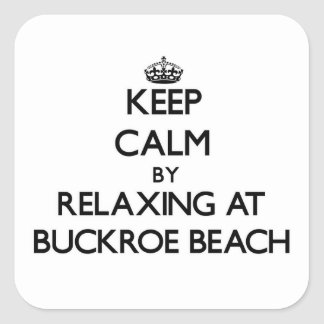 Keep calm by relaxing at Buckroe Beach Virginia Sticker