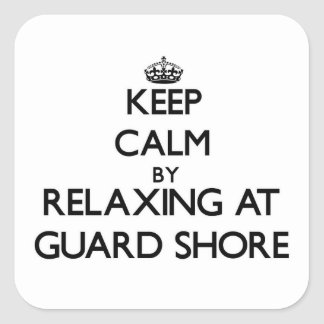 Keep calm by relaxing at Guard Shore Virginia Stickers