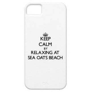 Keep calm by relaxing at Sea Oats Beach Florida iPhone 5 Cover