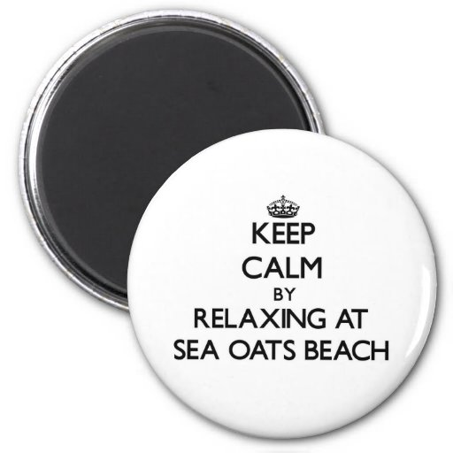 Keep calm by relaxing at Sea Oats Beach Florida Fridge Magnets