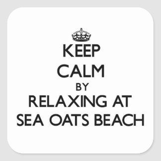 Keep calm by relaxing at Sea Oats Beach Florida Square Sticker