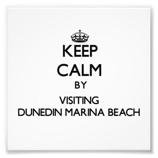 Keep calm by visiting Dunedin Marina Beach Florida Photo Print