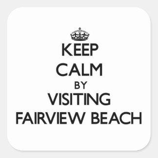 Keep calm by visiting Fairview Beach Virginia Sticker