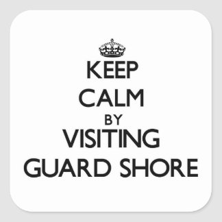 Keep calm by visiting Guard Shore Virginia Stickers