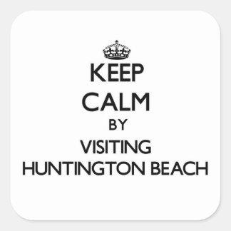 Keep calm by visiting Huntington Beach Virginia Sticker