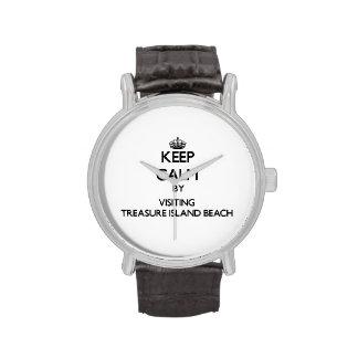 Keep calm by visiting Treasure Island Beach Florid Watches