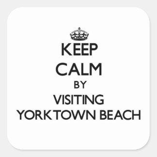 Keep calm by visiting Yorktown Beach Virginia Sticker