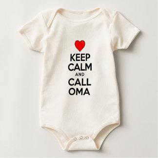 Keep Calm Call Oma Baby Bodysuit