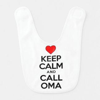 Keep Calm Call Oma Bib