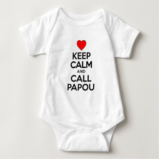 Keep Calm Call Papou Baby Bodysuit
