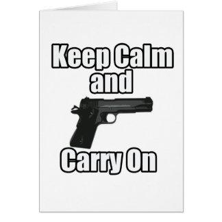 Keep Calm Carry On Card