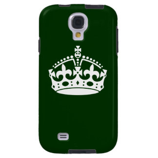 KEEP CALM CROWN on Forest Green Customize This Galaxy S4 Case