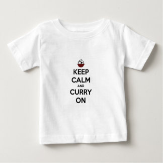 keep calm curry on baby T-Shirt