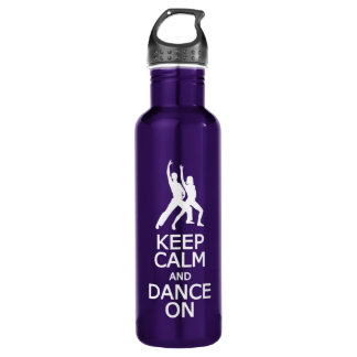 Keep Calm & Dance On water bottle, choose color 710 Ml Water Bottle