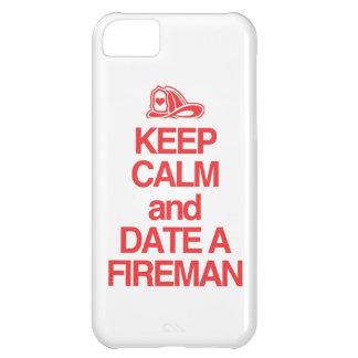 Keep Calm & Date A Firefighter iPhone 5C Case