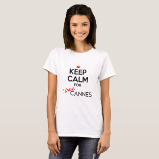Keep Calm for I Love Cannes in White (Women) T-Shirt