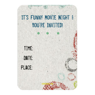 Keep Calm Funny Movie Night Custom Invitation