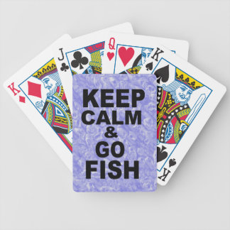 KEEP CALM & GO FISH BICYCLE PLAYING CARDS