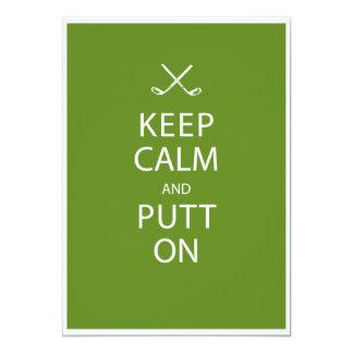 Keep Calm - Golf Theme Retirement Party 13 Cm X 18 Cm Invitation Card
