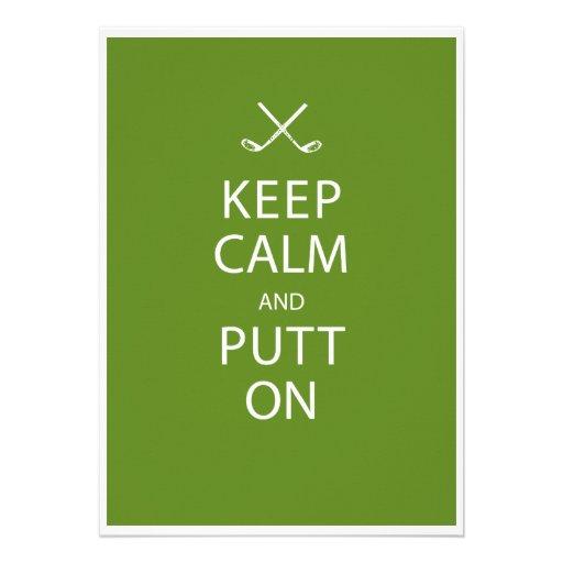 Keep Calm - Golf Theme Retirement Party Custom Invitation