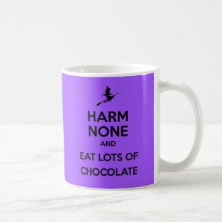 Keep Calm Harm None and Eat Lots of Chocolate Basic White Mug