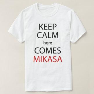 Keep Calm Here Comes Mikasa Anime Manga Shirt