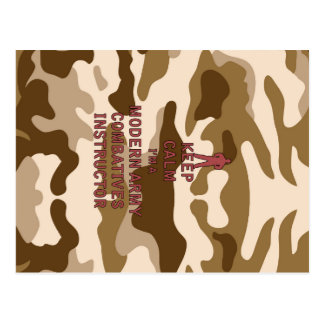 Keep Calm I'm a Modern Army Combatives Instructor Postcard
