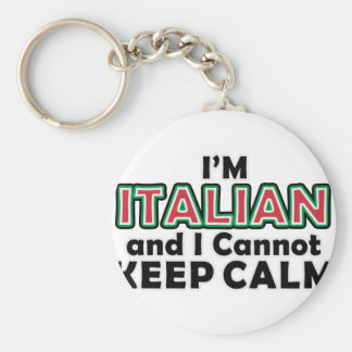 Keep Calm Italians Basic Round Button Key Ring