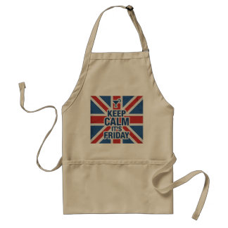 """""""Keep Calm it's Friday"""" Funny relax chill Standard Apron"""