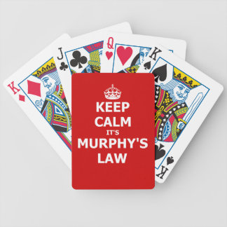 Keep Calm It's Murphy's Law Bicycle Playing Cards