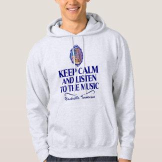 Keep Calm Listen to Music Men's Hooded Sweatshirt