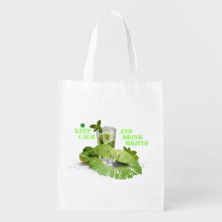 Keep Calm Mojito Reusable Grocery Bag
