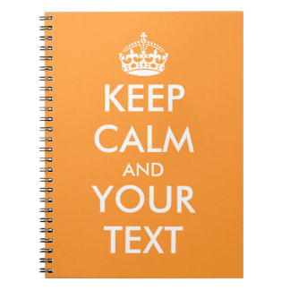 Keep calm notebooks | custom writing paper supply