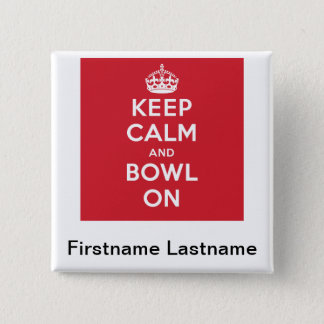 """""""Keep Calm"""" Personalized Button"""