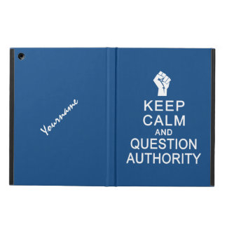 Keep Calm & Question Authority custom cases