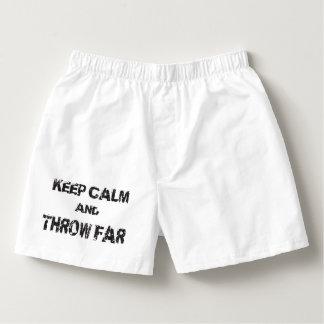 Keep Calm Shot Put Discus Hammer Throw Underwear Boxers