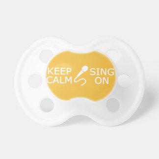 Keep Calm & Sing On custom color pacifier