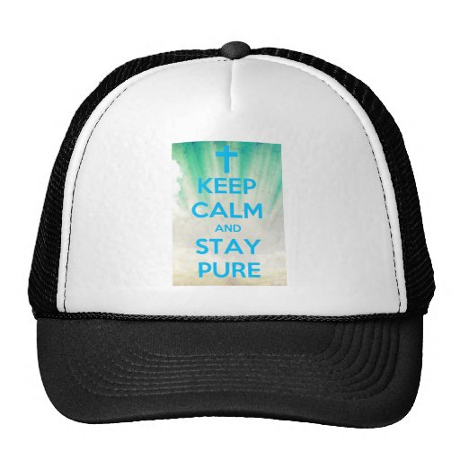 Keep Calm & Stay Pure Mesh Hat