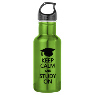 Keep Calm & Study On water bottle, choose color 532 Ml Water Bottle