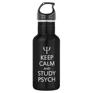 Keep Calm & Study Psych - choose colo 532 Ml Water Bottle