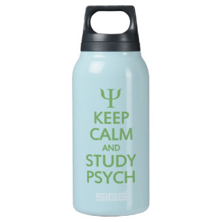 Keep Calm & Study Psych - choose colo Insulated Water Bottle