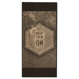 Keep Calm USB drive Wood USB 2.0 Flash Drive